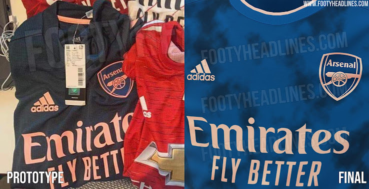 Leaked Completely Different Arsenal 20 21 Third Kit Prototype Vs Final Footy Headlines