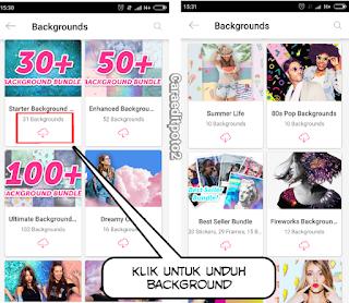 Cara download background picsart gratis