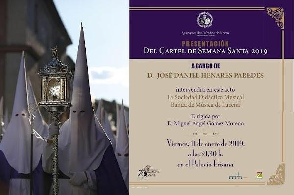 Este viernes presentación del cartel de Semana Santa de Lucena 2019