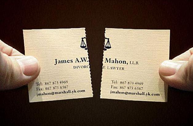 cartao visita criativo advogado divorcios - 13 Cartões de Visita extremamente criativos