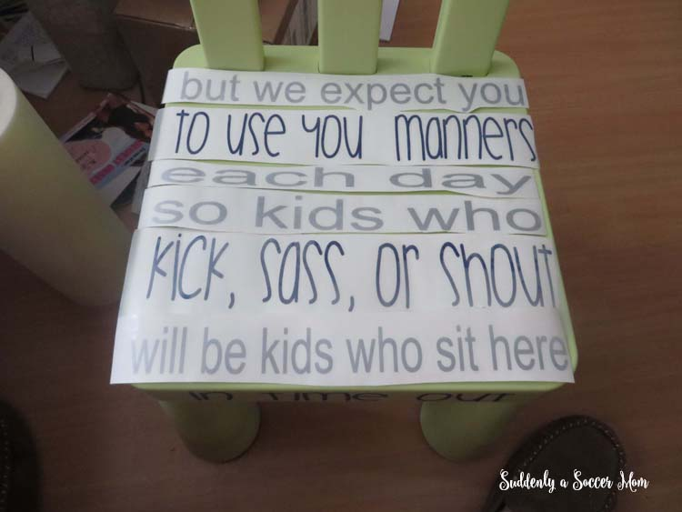 Time Out Chair With Timer suddenly a soccer mom: easy personalized time out chair