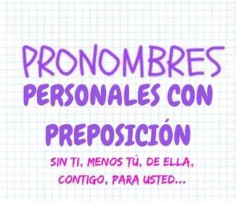 Pronombres Personales Con Preposición
