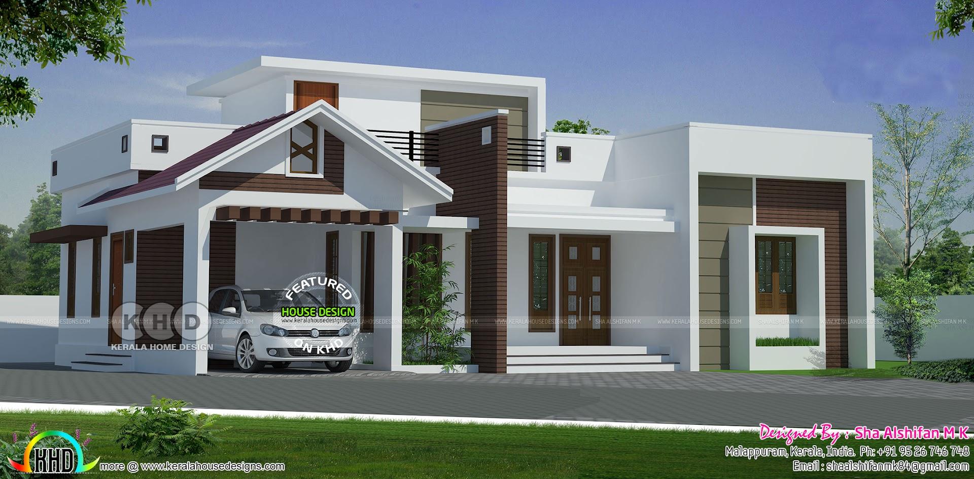 1215 Sq Ft 2 Bedroom Single Floor Home Plan Kerala Home