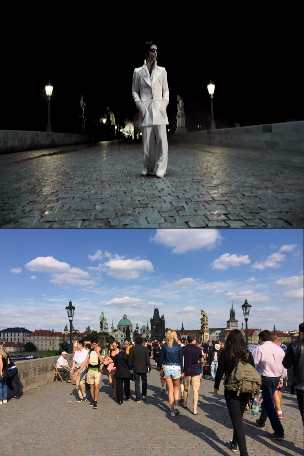 The cinescapader visiting filming locations of somewhere for Prague location