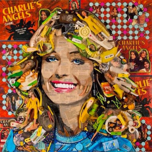 23-Farrah-Fawcett-Jason-Mecier-Paintings-or-Sculptures-in-Portrait-Collage-www-designstack-co