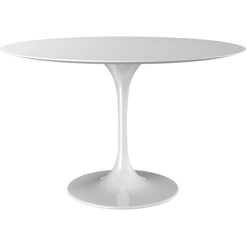 "48"" Round White Modern Saarinen style dining table #saarinen #tulip #diningtable"