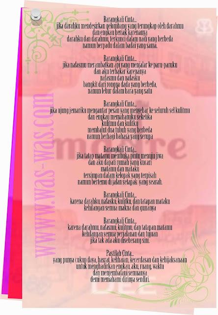 """Puisi Barangkali Cinta Novel Madre"""
