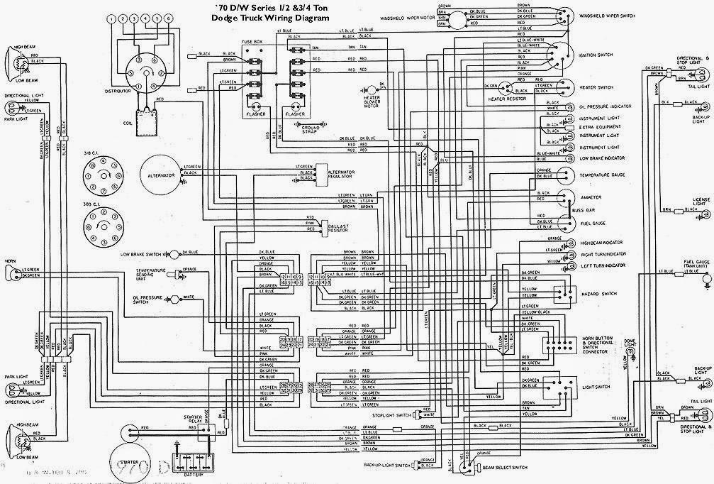 1970 DW Dodge Truck Wiring Diagrams | Schematic Wiring