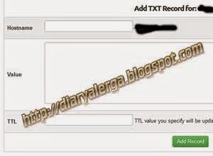 email menambahkan txt record