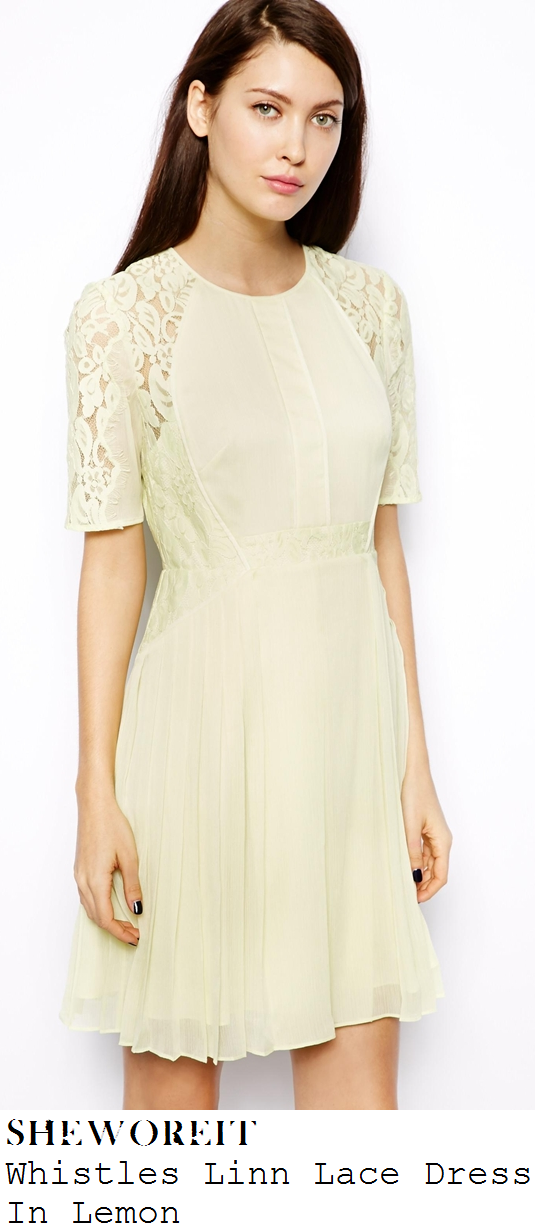 myleene-klass-pale-yellow-cream-floral-lace-panel-pleated-dress-loose-women
