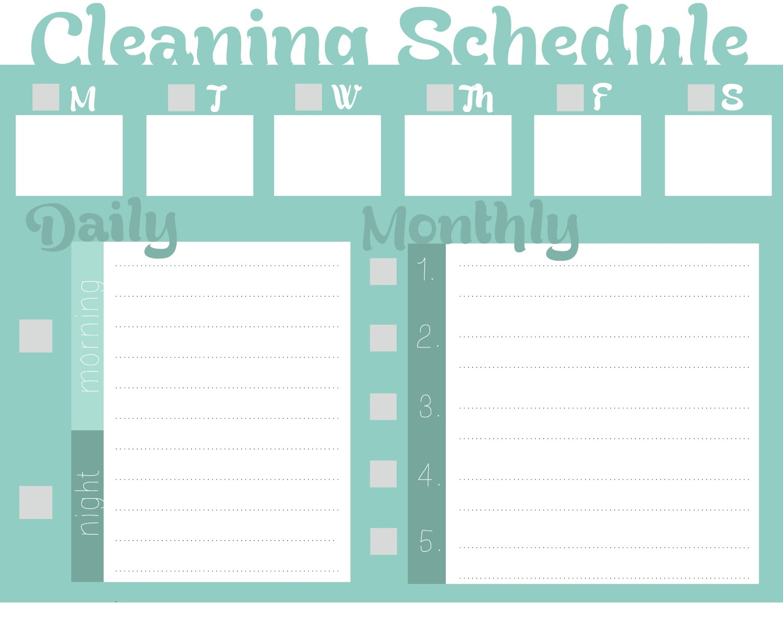 Blank Cleaning Schedule Template Blank Work Schedule Hunecompany Com