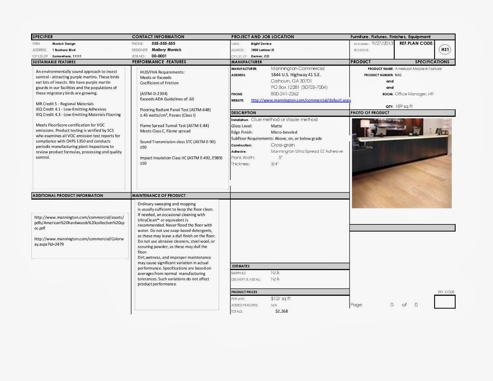 Interior Design By Mallory Spec Sheets And Enlarged Plans