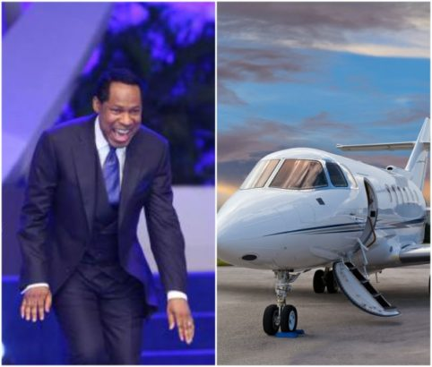 Pastor Chris Oyakhilome gets a private jet gift from church members (Photos)