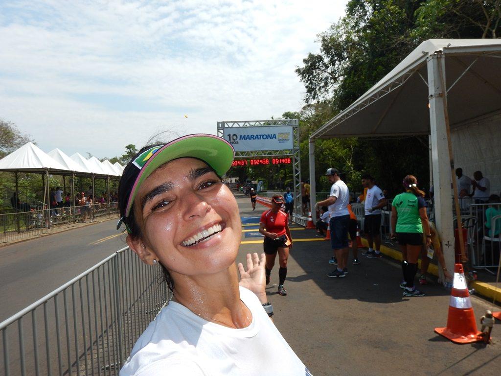 Maratona Internacional de Foz do Iguaçu, chegada