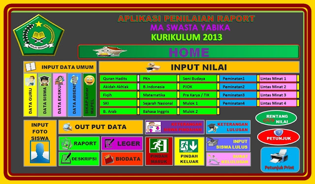 Download Aplikasi RAPORT KTSP dan RAPORT K13 Otomatis