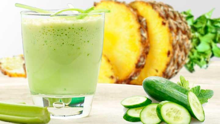 Batido Super Détox De Aloe Piña Y Pepino