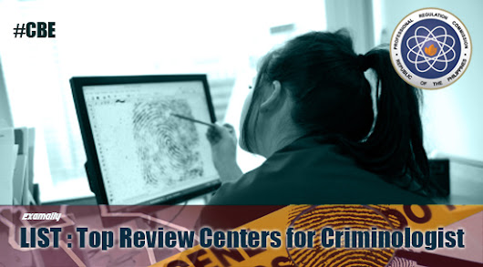 List : Top Review Centers for Criminologist Board Examination #CBE ~ Exam Ally