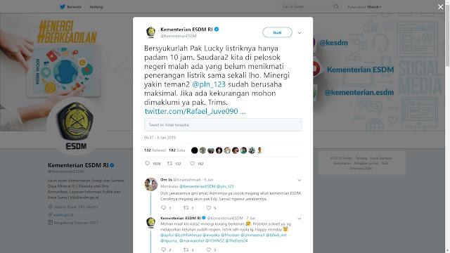 Kicauan Dianggap Aneh, Akun Kementerian ESDM Panen Kritik Netizen