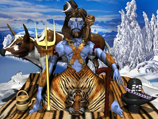 LORD SHIVA AND DEMON FROM HELL IN 3D MAX