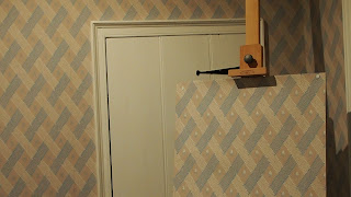 Tapetenreplik im Jane Austen House & Museum