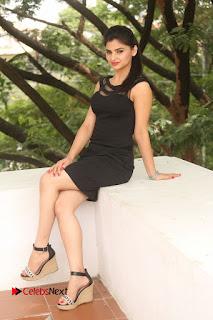Actress Kamna Ranwat  Pictures in Black Short Dress at Selfie Raja Interview  0279