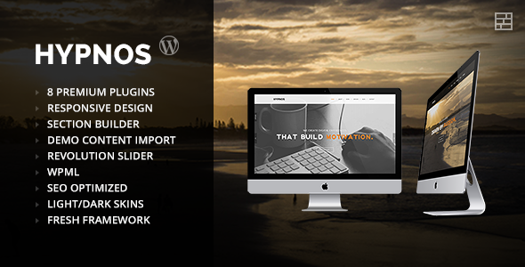 Hypnos - OnePage Parallax WordPress Theme Free Download by ThemeForest.