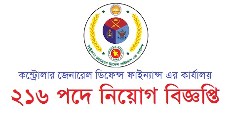 Office of the Controller General Defence Finance (CGDF) Job Circular -www.cgdf.gov.bd