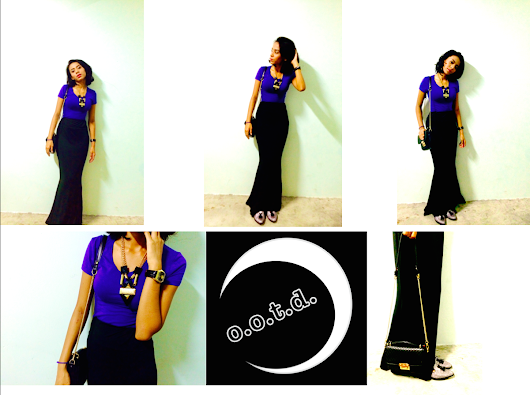 Outfit - Royal Blue on Black // Mermaid Skirt Obsession!
