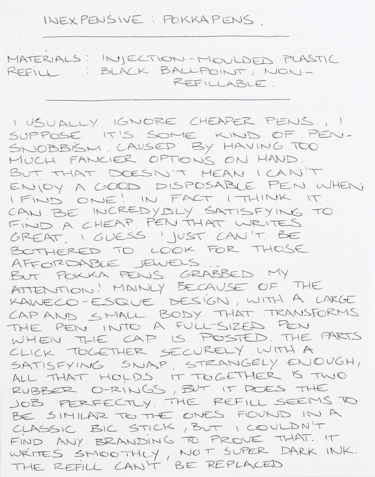 inexpensive pokka pens pocket pen review the pencilcase blog Cheap Canon Ink inexpensive pokka pens pocket pen review