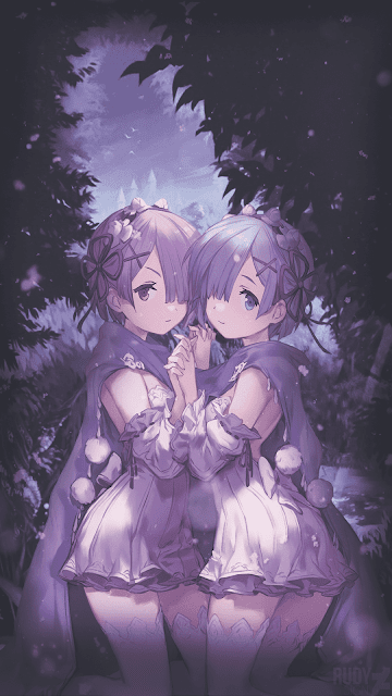 ram & rem re zero wallpaper