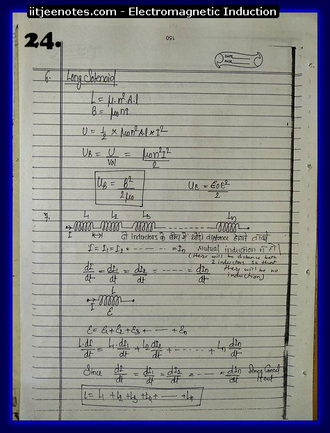 Electromagnetic Induction Notes cbse