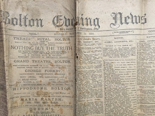 Bolton Evening News from 11th November 1918 - Armistace Day