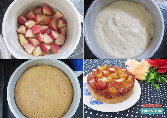 torta invertida de maçã