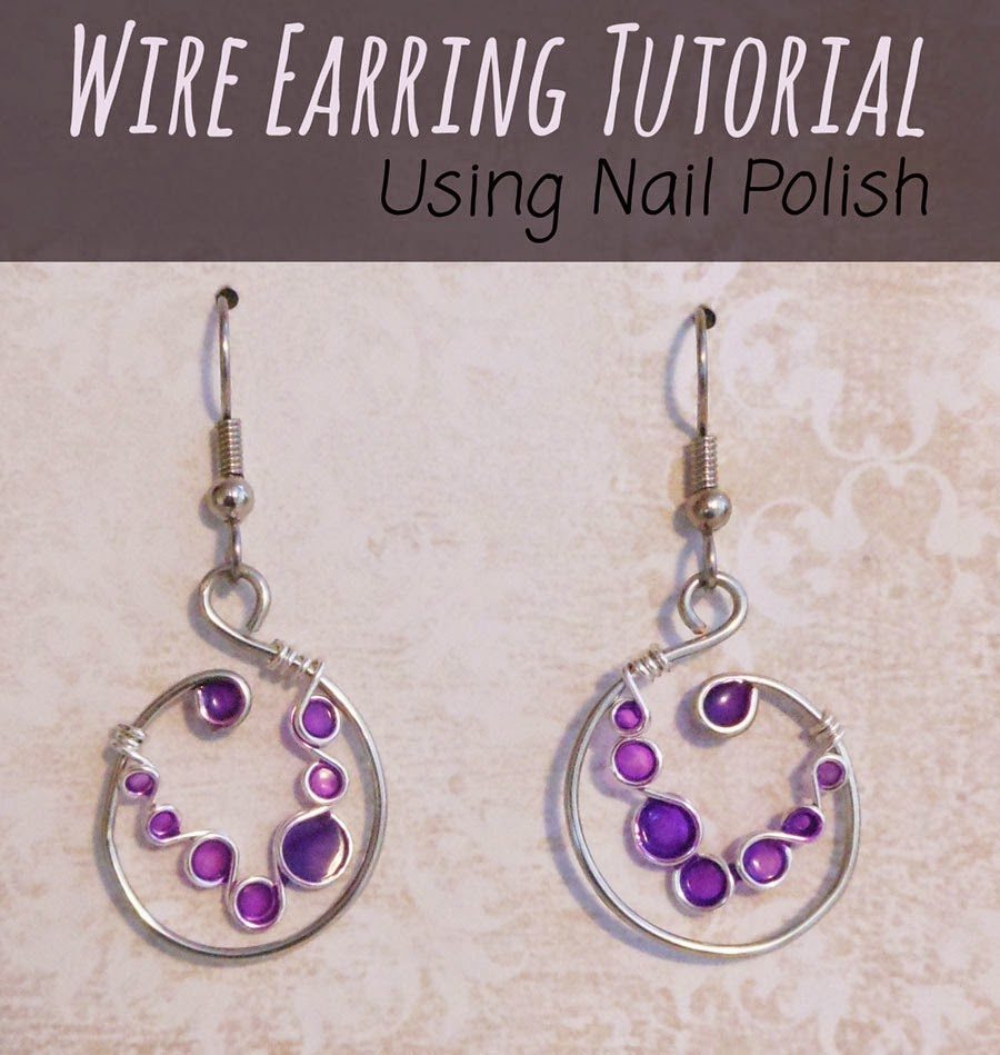 I Think It S The Purple Love Versatility Of Wire For Jewelry These Earrings Used 18 Gauge Silver Plated Copper Larger Circle