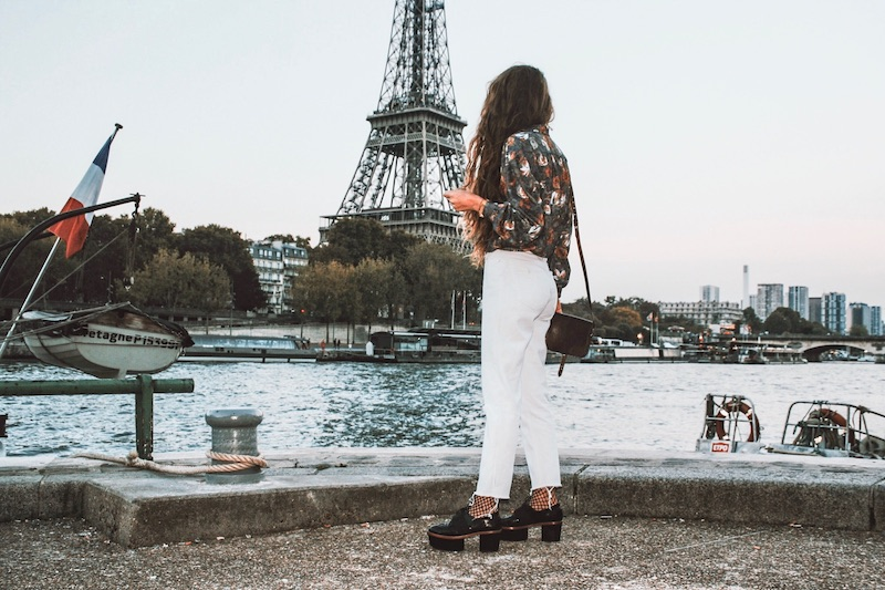 blog mode tenue du jour paris 2017 octobre tendance eiffel tower quai de seine