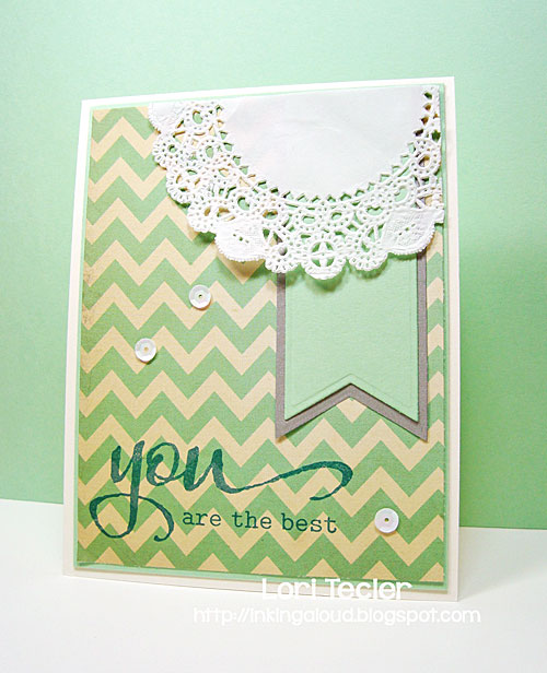 You Are the Best card-designed by Lori Tecler/Inking Aloud-stamps from Winnie & Walter