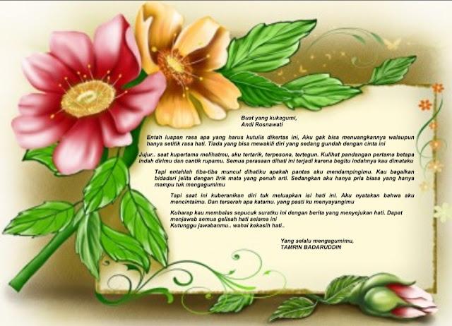 Contoh Surat Cinta Buat Pujaan Hati penuh Kreasi dalam Format Word
