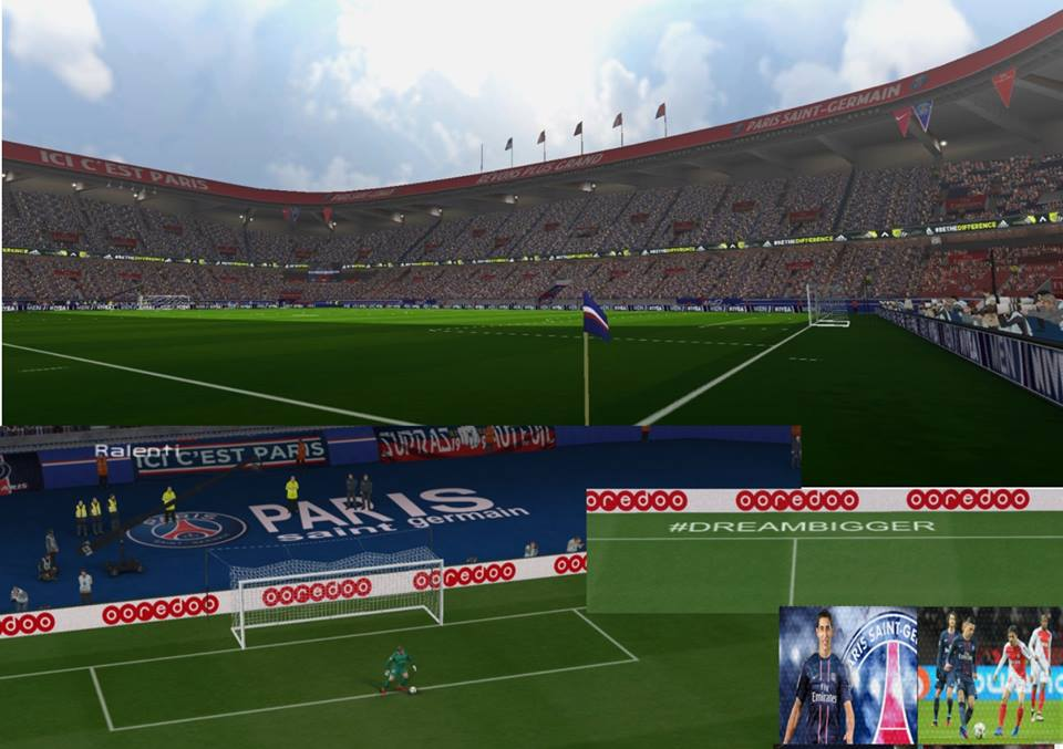 Pes 6 fra parc des princes update ligue 1 ucl 16 17 for Porte 0 parc des princes
