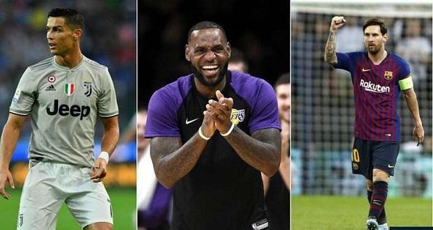 Ronaldo élu sportif le plus célèbre de la planète devant Messi et LeBron James !