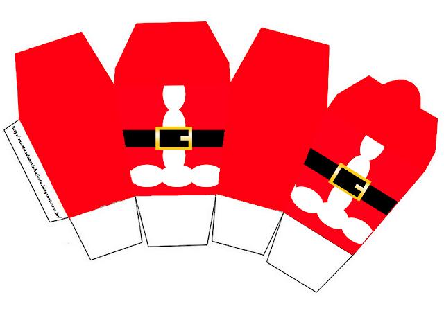 "Caja tipo ""de comida china""de Santa Claus."