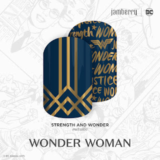 Inspired by DC Wonder Woman and the characteristics that capture the iconic heroine, you're sure to stand out in true Super Hero fashion with 'Strength and Wonder'. #StrengthAndWonderJN  © DC Comics. (s17) Noel Giger Jamberry