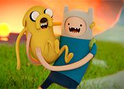 Hora de aventura Jake y Finn Real juego