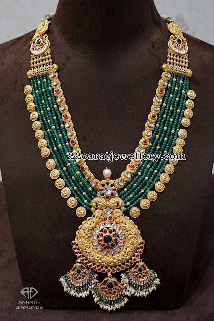 Beads Haram with Lakshmi Kasu