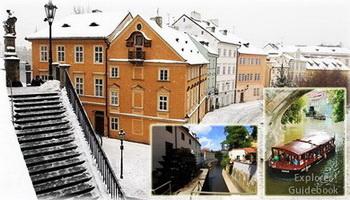 Tempat wisata terkenal di Praha Prague Ceko populer Pulau Kampa Island Certovka Prague