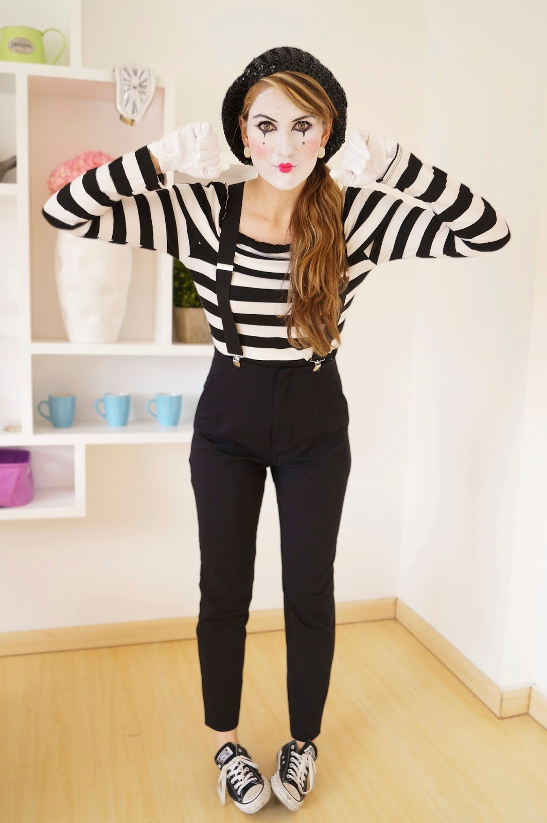 the joy of fashion halloween last minute homemade mime costume. Black Bedroom Furniture Sets. Home Design Ideas