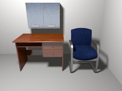meja belajar dilengkapi dengan lemari gantung serbaguna portable