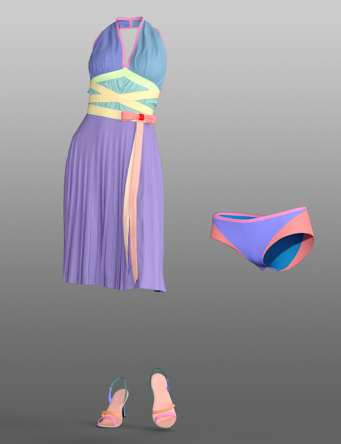 dForce Diva Iconic Halter Dress Outfit for Genesis 8 Female