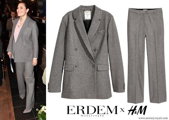 Crown Princess Victoria wore ERDEM X H&M Wool Suit