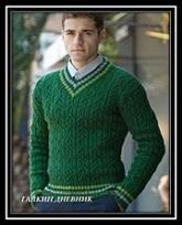 Vyazanie dlya mujchin pulover svyazannii spicami so shemoi i opisaniem raboti