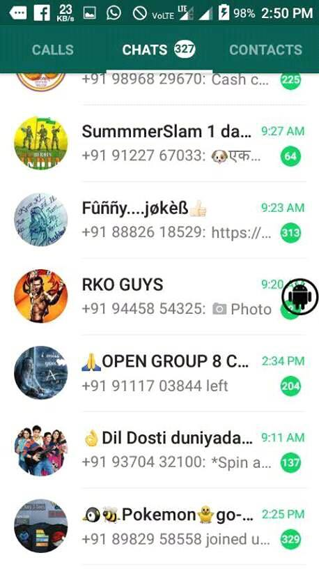 whatsapp group screenshot